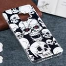 Voor Galaxy S9 Noctilucent rode ogen schedel patroon TPU zachte terug Case Beschermhoes