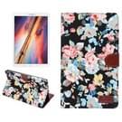 Samsung Galaxy Tab E 8.0 / T377V horizontaal Bloemen patroon Kleding structuur PU leren Flip Hoesje met houder en opbergruimte voor pinpassen & geld (zwart)
