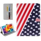 Samsung Galaxy Tab E 8.0 / T375 horizontaal USA vlag patroon PU leren Flip Hoesje met houder en opbergruimte voor pinpassen & geld