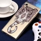 For Sony Xperia XA1 Embossment Tattoo Elephant Pattern Soft TPU Protective Case(Tattoo Elephant)
