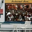2 PC'S Snowman Christmas glas venster verwisselbare sticker kerst decoratie