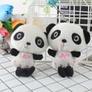 3 PC'S schattige Panda pluche sleutelhanger Toy Bag telefoon ornamenten voor meisjes Kids geschenken