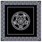 2 stuks Tarot bordspel gewijd zwarte non-woven tafelkleed  grootte: 49x49cm