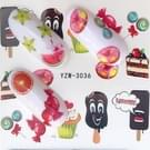 5 pc's Water overdracht Stickers Decals bloem Stickers voor nagels  kleur: YZW-3036