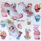 5 pc's Water overdracht Stickers Decals bloem Stickers voor nagels  kleur: YZW-3037