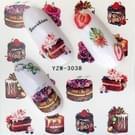 5 pc's Water overdracht Stickers Decals bloem Stickers voor nagels  kleur: YZW-3038