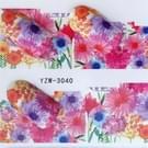 5 pc's Water overdracht Stickers Decals bloem Stickers voor nagels  kleur: YZW-3040