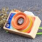 Mini houten cartoon SLR camera Caleidoscoop Kinder cadeau leuk speelgoed (draagbare stijl)