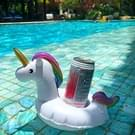 Inflatable Unicorn Shaped Floating Drink Holder  Inflated Size: About 23 x 21 x 22cm