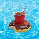 Inflatable Doughnut Shaped Floating Drink Holder  Inflated Size: About 19 x 19cm  Random Color Delivery
