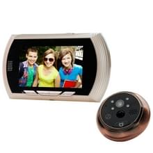 YB-43AHD-M 4 3 inch scherm 1.0MP deur Peephole Viewer  steun TF kaart & nacht Vision(Gold)