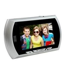 YB-43AHD-M 4 3 inch scherm 1.0MP deur Peephole Viewer  steun TF kaart & nacht Vision(Silver)