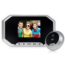 Danmini YB-30AHD 3.0 duim scherm 2.0MP Security Camera Disturb Peephole Viewer  Support TF-Card / Night Vision / Video Recording(Silver)
