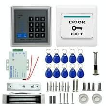 MJPT019 RFID toegang controle systeem Kits + magnetische Lock + 10 Buckle kaart + voeding + knop Afsluiten + schroeven Kit