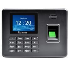 A3 2 8 inch kleur TFT scherm biometrische vingerafdruk Time Attendance  USB-communicatie Office Time Attendance klok (zwart)