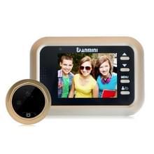 Danmini W8 2.4 inch kleur scherm 1.0MP Security Camera No verstoren Peephole Viewer  Support TF-Card (32 GB Max) / nacht Vision(Gold)