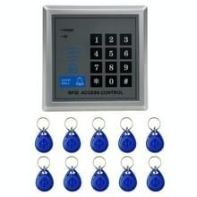 X1 RFID enkele deur toegangscontrolesysteem met toetsenbord & 10 identiteitskaart Token Keyfobs  ondersteunen wachtwoord & EM kaartlezer