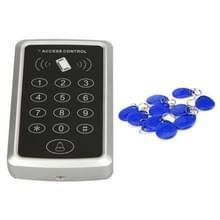 X3 RFID enkele deur toegangscontrolesysteem met toetsenbord & 10 identiteitskaart Token Keyfobs  ondersteunen wachtwoord & EM kaartlezer