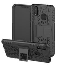 Tire textuur TPU + PC schokbestendige behuizing voor Asus Zenfone Max (M2)  met houder (zwart)