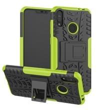 Tire textuur TPU + PC schokbestendige behuizing voor Asus Zenfone Max (M2)  met houder (groen)