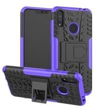 Tire textuur TPU + PC schokbestendige behuizing voor Asus Zenfone Max (M2)  met houder (paars)
