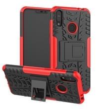 Tire textuur TPU + PC schokbestendige behuizing voor Asus Zenfone Max (M2)  met houder (rood)
