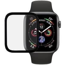 9H 3D volledig scherm getemperd glas Film voor Apple Watch serie 4 40mm (zwart)