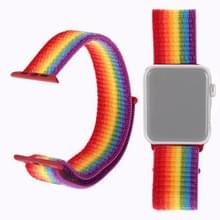 Eenvoudige mode nylon horlogebandje voor Apple Watch serie & 40mm/3 & 2 & 1 38mm  met Magic stick (kleur)