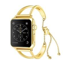 Letter V vorm armband metalen pols horloge Band met roestvrij stalen gesp voor Apple Watch serie 3 & 2 & 1 42mm (goud)