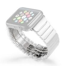 Voor Apple Watch serie 3 & 2 & 1 42mm Delicate keramiek pols horloge Band (wit)