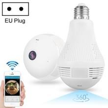 DP1 1 3 miljoen pixels 360 graden kijkhoek gloeilamp WiFi-camera  ondersteuning een sleutel reset & TF-kaart & nachtzicht  EU-stekker