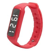 CD5 Silicone Band Fitness Smart Bracelet  Pedometer / Step Counter / Temperature / Time & Date / Calories / Atmospheric Pressure(Red)