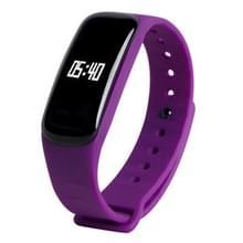 M8 bloeddruk hartslag Bluetooth Smart armband  stappenteller / slapen Monitor / Call herinnering / afstand / calorieën / bloed Oxygen(Purple)
