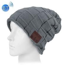 Vierkant geweven gebreide Bluetooth Headset warme Winter Beanie muts met Mic voor jongen & meisje & volwassenen (antraciet)