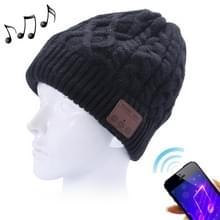 Golvende geweven gebreide Bluetooth Headset Warm Winter Beanie muts met Mic voor jongen & meisje & Adults(Black)