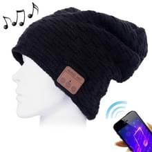 Geweven gebreide Bluetooth Headset warme Winter Beanie muts met Mic voor jongen & meisje & Adults(Black) weven