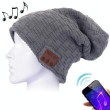Weven van geweven gebreide Bluetooth Headset warme Winter Beanie muts met Mic voor jongen & meisje & volwassenen (antraciet)