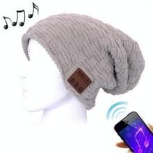 Geweven gebreide Bluetooth Headset warme Winter Beanie muts met Mic voor jongen & meisje & Adults(Grey) weven