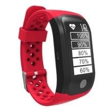 S908 GPS Bluetooth Smart Band armband  IP68 waterdicht Professional  steun hartslagmeter / zwemmen analyse / stappenteller / Track-sport / slapen Monitor / sedentaire herinnering / Call herinnering  compatibel met Android en iOS telefoons (rood)