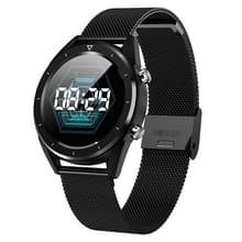 DT28 1.54  inch TFT Color Screen Smart Bracelet IP68 Waterproof  Metal Watchband  Support Call Reminder /Heart Rate Monitoring /Sleep Monitoring/ Sedentary Reminder/ Blood Pressure Monitoring(Black)