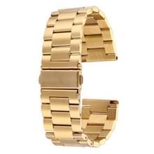 Voor Fitbit Blaze Smart Watch vlinder gesp 3 kralen roestvrij staal Watchband(Goud)