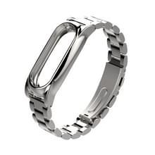 Mijobs metaal Draagkoordje originele Xiaomi Mi Band 2 riem Stainless Steel Bracelet polsbandjes vervangen accessoires  Host niet Included(Silver)