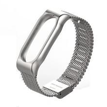 Originele Mijobs Metal band voor Xiaomi Mi Band 2 schroefloze Buckle stijl Stainless Steel Bracelet polsbandjes vervangen accessoires  Host niet Included(Silver)