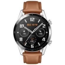 HUAWEI WATCH GT 2 46mm Fashion Armband Bluetooth fitness tracker Smart Watch  Kirin a1-chip  ondersteuning hartslag/Drukbewaking/oefening/stappenteller/oproep herinnering (bruin)