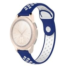Double Color Wrist Strap Watch Band for Galaxy Watch 42mm (White Blue)