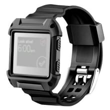 Voor Fitbit Blaze Watch Silicone horlogeband plastiek + siliconen Frame  lengte: 16-23cm (zwart)