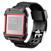 For Fitbit Blaze Watch Silicone Watchband Plastic + Silicone Frame  Length: 16-23cm (Red)