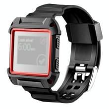 Voor Fitbit Blaze Watch Silicone horlogeband plastiek + siliconen Frame  lengte: 16-23cm (rood)