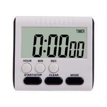 Keuken timer 24 uur digitale wekker LCD-scherm magnetische backing voor koken bakken (zwart)