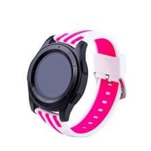 Samsung S3 eenvoudige manier strepen patroon horloges Band (wit + Magenta)